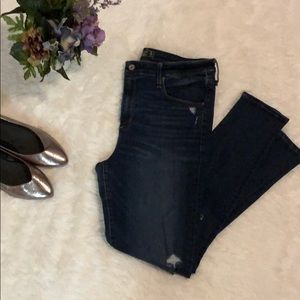 Abercrombie high-waisted distressed Jeggings
